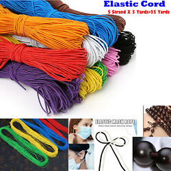 Elastic Cord String for Bracelets Necklace Beading 25Yards 5x5yd 1mm Round $6.88