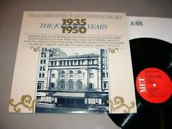 100 YEARS OF GREAT ARTISTS AT THE MET 2 LP SET Johnson Years 1935-1950 $14.75
