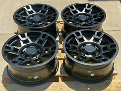 17x8 Matte Black Wheels Fits Toyota 4Runner Tacoma FJ 17 Inch 6x139 +5 Rims Set $584.10