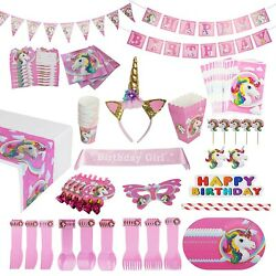 Unicorn Party Supplies Pack 15 Guests WITH Sash and Horn Unicorn Headband $22.50