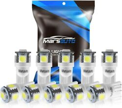 10pack Marsauto 194 LED Light Bulb 6000K 168 T10 2825 5SMD LED Replacement Bulbs $7.88