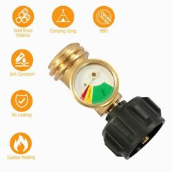 Propane Tank Gauge RV Pressure Brass Adapter Gas Level Meter Grill BBQ Indicator $13.19