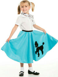 Youth Poodle Skirt Turquoise with Scarf with Musical note printed Scarf $14.99