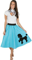 Adult Poodle Skirt Turquoise with Musical note printed Scarf $19.99