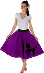 Adult Poodle Skirt Purple with Musical note printed Scarf $19.99