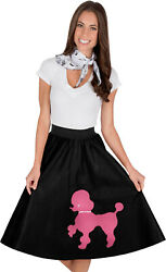 Adult Poodle Skirt Black with Musical note printed Scarf $19.99