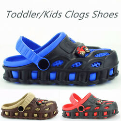 Boys Kids Garden Clogs Shoes Toddler Slip On Casual Two tone Slipper Sandals $9.99