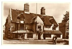 Spalding White Horse Inn RPPC PostcardK.1700.Posted 1956 Card Good Condition C $7.95