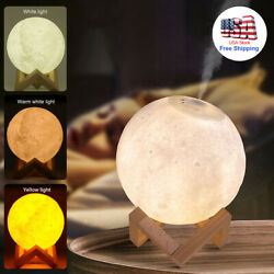 880mL Air Humidifier USB 3D Moon Lamp Aromatherapy Light Essential Oil Diffuser $29.99
