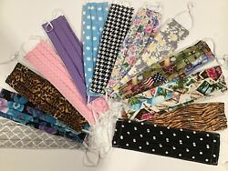 1 Face Mask 100% cotton fabric Hand-Made washable with NOSE WIRE  $9.98