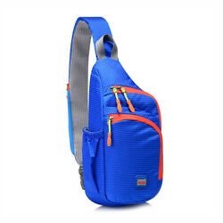 Men Women Chest Bag Storage Small Outdoor Nylon Travel Waterproof One Shoulder $13.99
