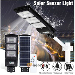 90000LM Solar LED Street Light Commercial Outdoor IP67 Area Security Road Pole