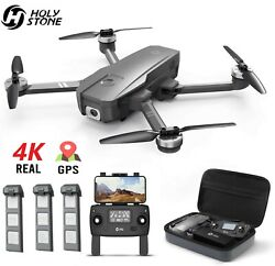 Holy Stone HS720 4K Drone with HD Camera GPS RC Quadcopter Brushless 3 Battery $299.99