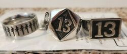 3 Mens Rings Lucky 13 Size 13 New $18.00