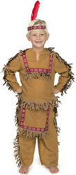 Native American Indian Boy Costume with Feather headband $24.99