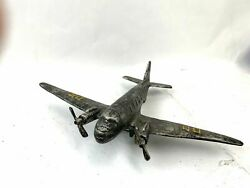 Cast Iron WW2 Military Airplane Vintage Antique $124.99