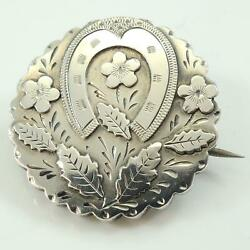 Victorian Antique Silver Horseshoe Brooch Pin Chester 1888 GBP 55.00