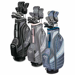 Callaway Womens Solaire Ladies Complete Golf Club set 11 piece Full set w/ Bag  $649.99