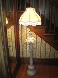 Antique Floor Lamp Hand Carved Marble Fine Working Order $500.00