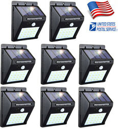 8PK 20 LED Solar Power Light PIR Motion Sensor Garden Security Wall Lamp Outdoor $36.96