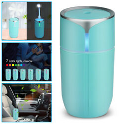 Portable USB LED Light Air Humidifier Diffuser Aroma Mist Purifier Car Home USA $9.97
