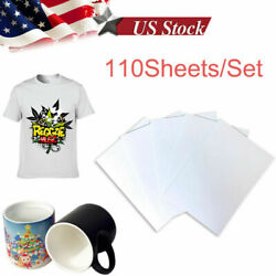 110 Sheets A4 Dye Sublimation Paper Heat Transfer Paper for Cup Mugs Print Photo $11.99