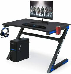 Computer Gaming Desk with Cup Holder for Home or Office Gaming PC Desk Table  $159.99