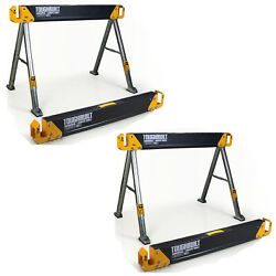 TOUGHBUILT 2 Pack 42.4quot; Steel Sawhorse and Jobsite Table Pair 2200 lb. Capacity $84.97