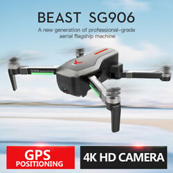 ZLRC SG906 Beast 4K Dual GPS 5G WiFi FPV Brushless Foldable RC Drone Quadcopter $168.99