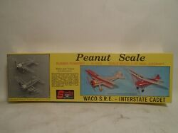 Rare Vintage Sterling #P 3 PEANUT SCALE WACO S.R.E. amp; INTERSTATE CADET BALSA KIT $39.99