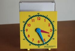 Student Clock For Teaching Time MAC004 New in Box Classroom teach analog yellow $6.95