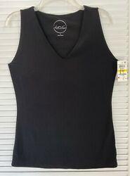 I.N.C. BLACK SLEEVELESS KNIT PULL OVER TOP SIZE M NWT $22.00