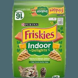 Friskies Indoor Dry Cat Food Indoor Delights 16 lb. Bag $24.99
