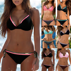 Womens Sexy Push Up Bar Bikini Set Padded Beach Swimwear Swimsuit Bathing Suit $12.53