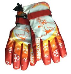 Crazy Chillers Snow Gloves Kids Boy Winter Wear Change Colors Sport Ski Team S M $17.99