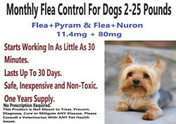 Monthly Flea Control For Dogs 2 25 LBS 1 Year Supply. Safe amp; Inexpensive 12 80 $18.00