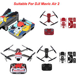 PVC Skin Decals Protective Film Sticker Part Set for DJI Mavic Air 2 Drone $18.58