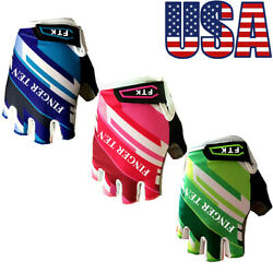 Kids Gloves Cycling Bike Half Finger Sports Outdoor for Junior Mountain Bike