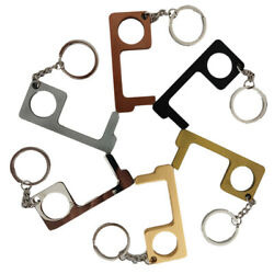 6Pcs of Clean Key Door Opener Handheld Brass EDC Keychain No Touch Hand Tool USA $14.99