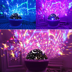 Starry Night Sky Projector Lamp Kids Baby Gift Moon Star Light Rotating Cosmos $11.35