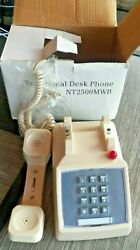 Vintage Cream Colored Push Button Traditional Desk Telephone NT2500MWB IOB $40.00