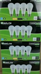 16 pack LED Light Bulbs 100 Watt Equivalent A19 Dimmable Soft White Daylight $25.84