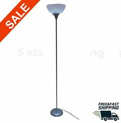 71 Inch Floor Lamp Living Room Light Stand Scoop Shade Torchiere Lamp Silver NEW $19.98