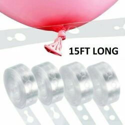 5m Balloon Chain Tape Arch Connect Strip for Wedding Birthday Party Decoration $3.99