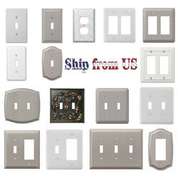 US Wall Switch Plate Decorative Outlet Cover Toggle Rocker Duplex Light Outlet $3.99