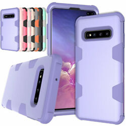 For Samsung Galaxy S8 S9 S10 Plus Note 8 Heavy Duty Rubber Hard Phone Case Cover $8.85