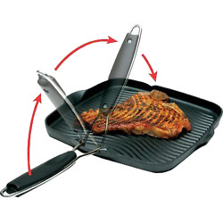 Grill Pan 10quot;x10quot; w Foldable Handle $30.86