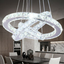 Modern Chandelier LED Crystal Pendant Lamp Round Ceiling Light Hanging Light $89.99