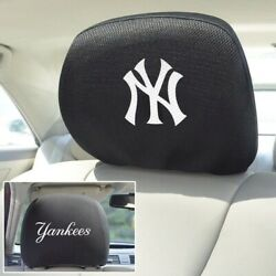 New MLB New York Yankees Set Of 2 Embroidered Car SUV Vehicle Headrest Covers $16.27