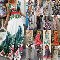 Womens Sleeveless Boho Maxi Dress Cocktail Party Holiday Casual Long Dress US $12.15